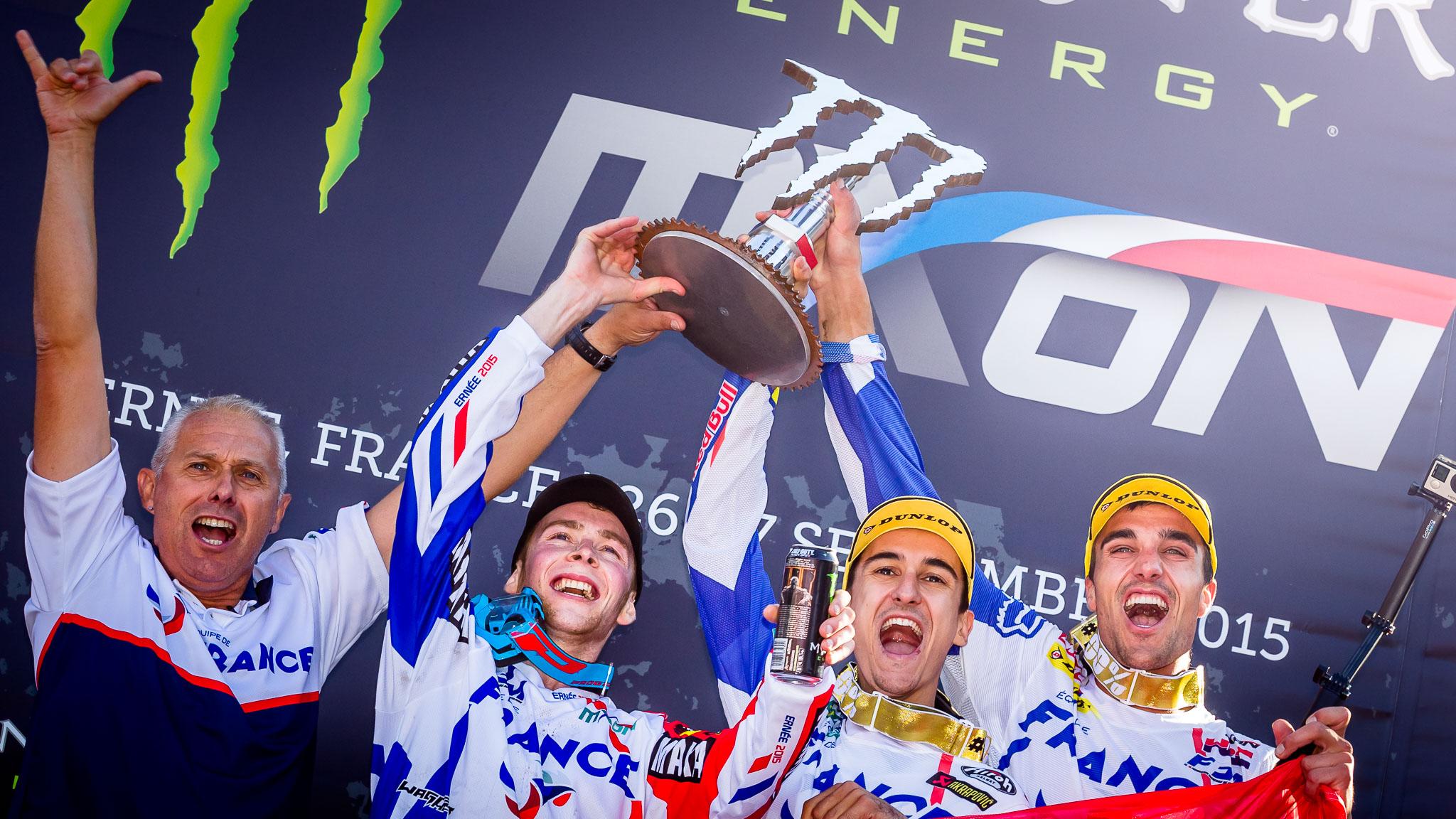 MXoN 2015 Ernée Motocross of Nations Team France the Champs