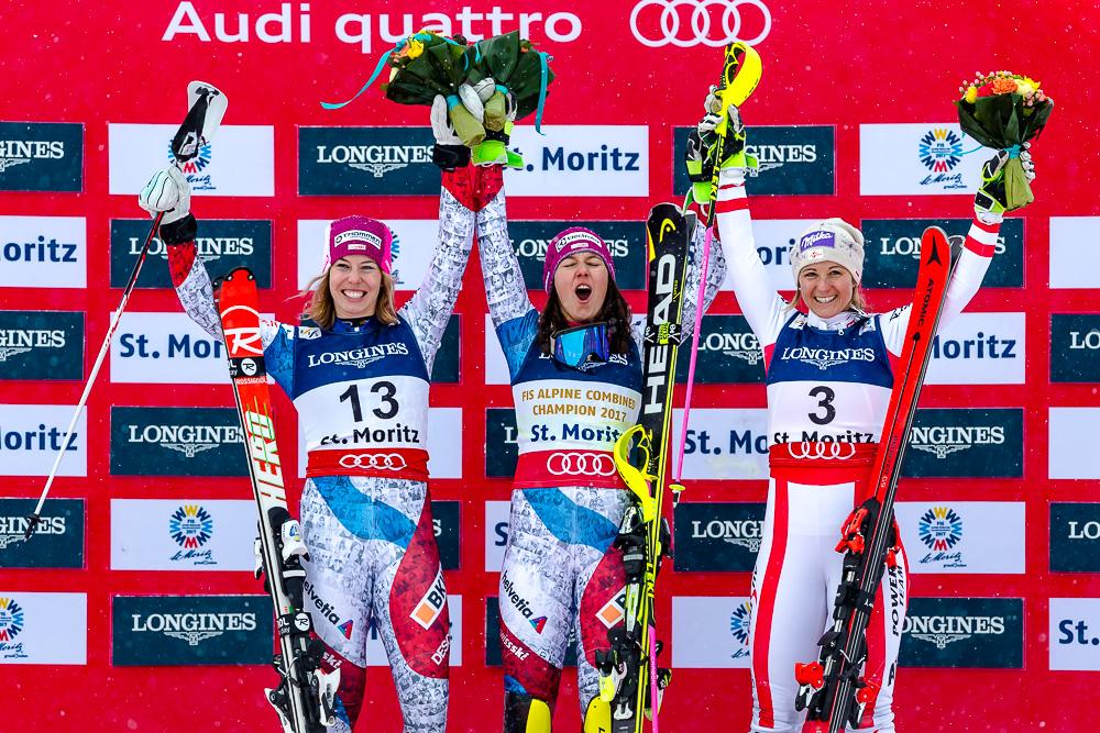 Ski WM St.Moritz 2017 Podium Alpine Combi Women